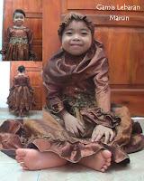 Putri busana, gamis lebaran anak