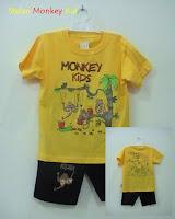 Putri busana, busana kartun motif monkey kids