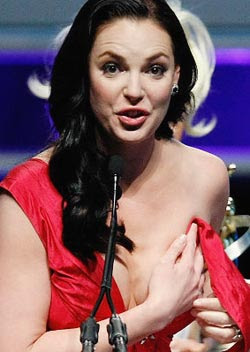 Actress Katherine Heigl suffers wardrobe malfunction