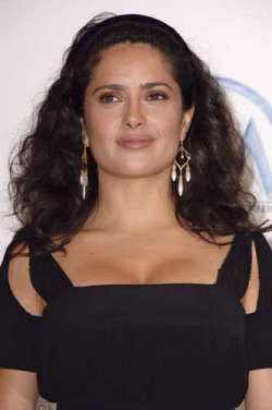 Breast addict Salma Hayek