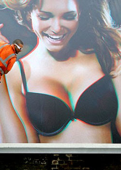 3D Wonderbra ad distracting drivers