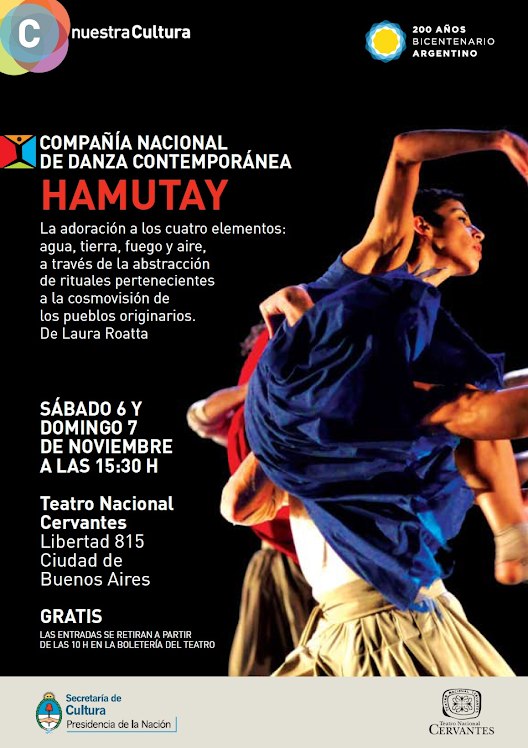 Programa de mano de las funciones en el Teatro Nacional Cervantes 2010