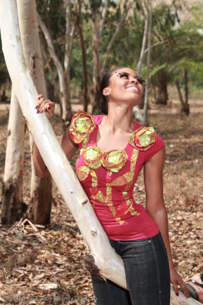 African print tees by renee Q  lookbook  tenue en pagne africain