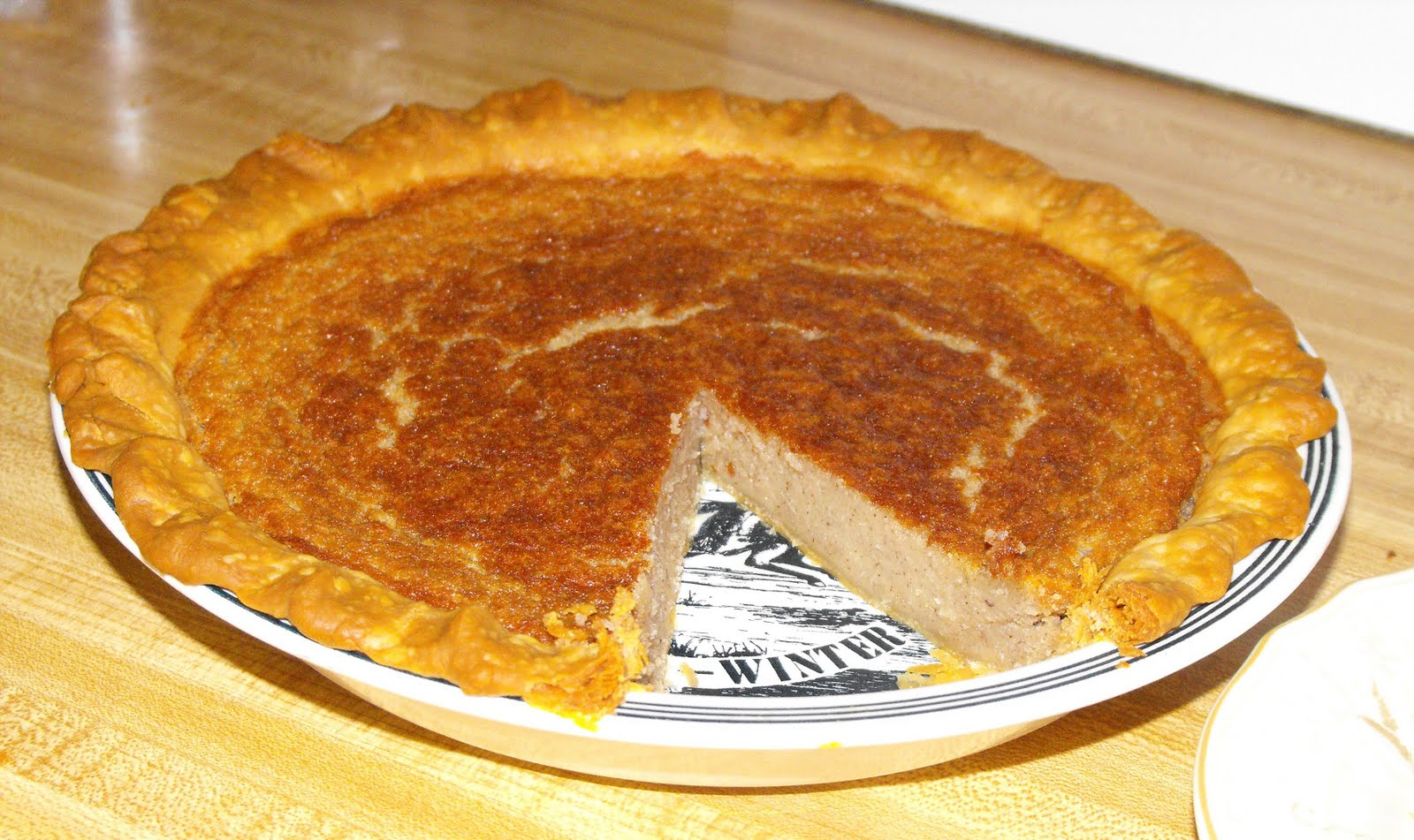 And last but not least, the real dessert--a pie made from navy beans .