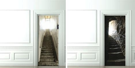 Mind escapes 3d door decals funny for Idea door yw
