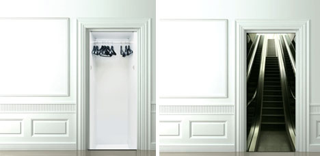 mind escapes 3d door decals funny
