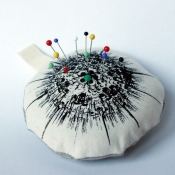 Monochrome pin cushion
