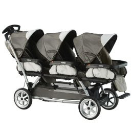 On Strollers – TRIPLETS plus ONE