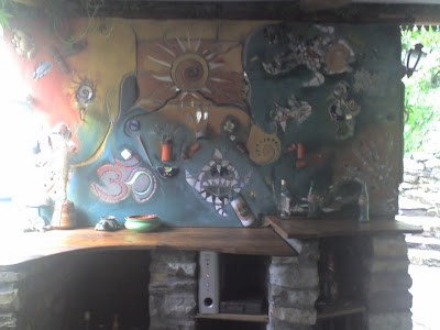 Artistic Work on Dinning Hall Wall, Tirthan Valley