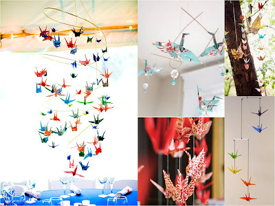 Cranes Mobiles Color Wedding Baby Projects Hanging