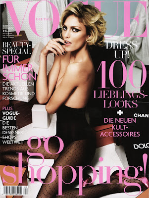 anja rubik vogue germany deutsch cover september 2009