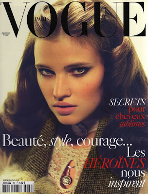 lara stone vogue september 2009 cover paris