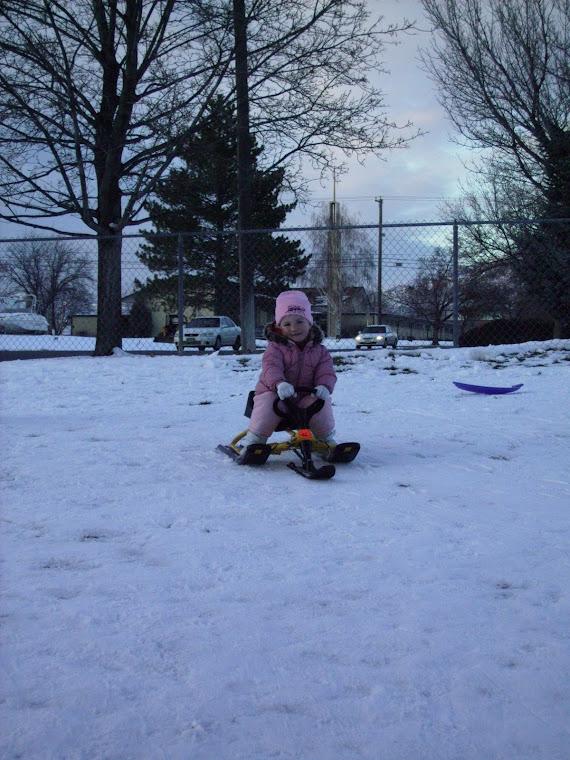 Our sledding girl