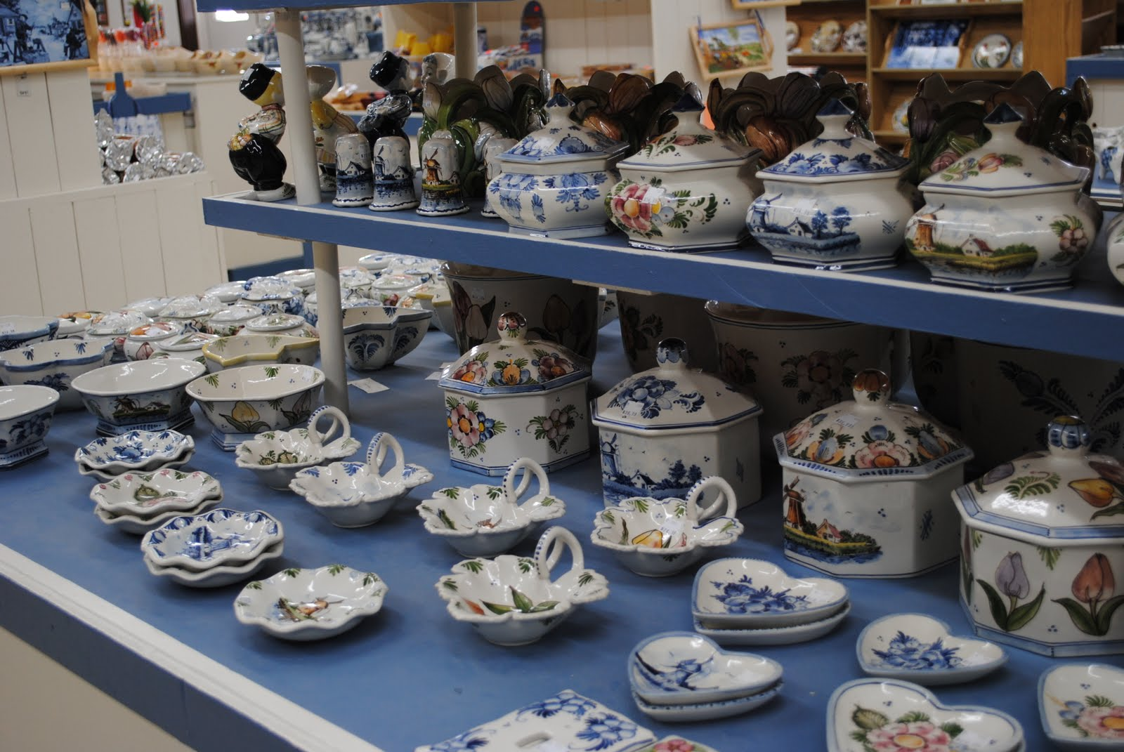 They have imported Delft (pottery) from their shop in Holland (Europe) and they paint some of the pottery at the factory in Holland MI. & The Boatwright Family: Holland Michigan