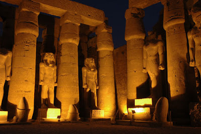 Luxor Temple after dark