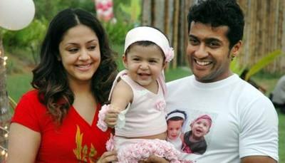 surya jyothika baby diya birthday photo