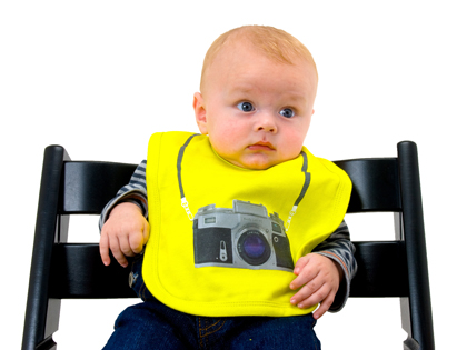 baby with camera