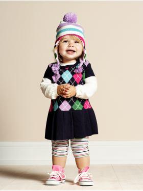 baby girl argyle style