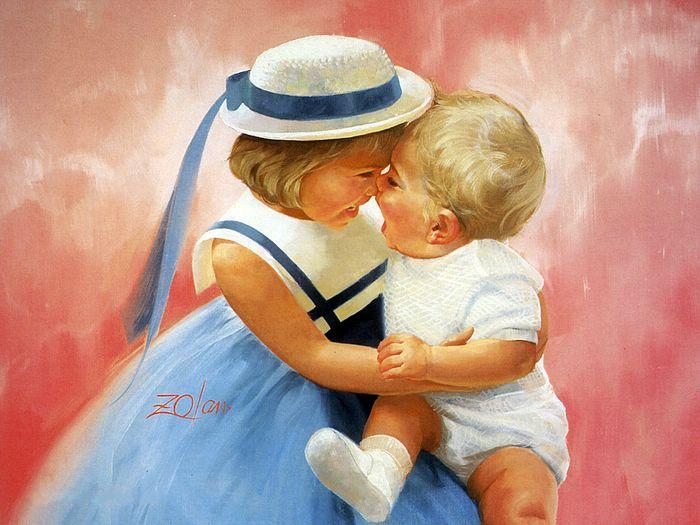 Creative Baby boy girl wonderful drawing photos 04