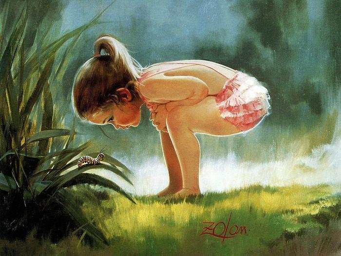Creative Baby boy girl wonderful drawing photos 05