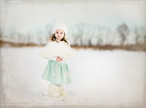 Cute Baby Girl in Nature photo 07