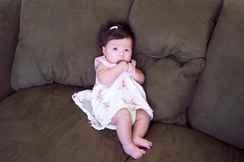 Cute newboran baby girl photo