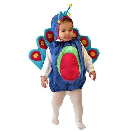 Cute baby boy in Peacock costume