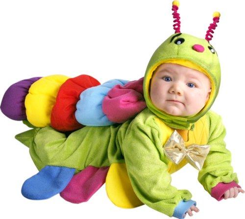Cute baby boy photo in caterpillar costume