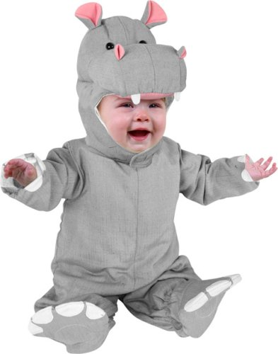 Cute baby boy photo in Hippo costume