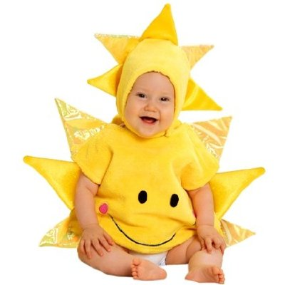 Cute baby boy photo in Sun costume
