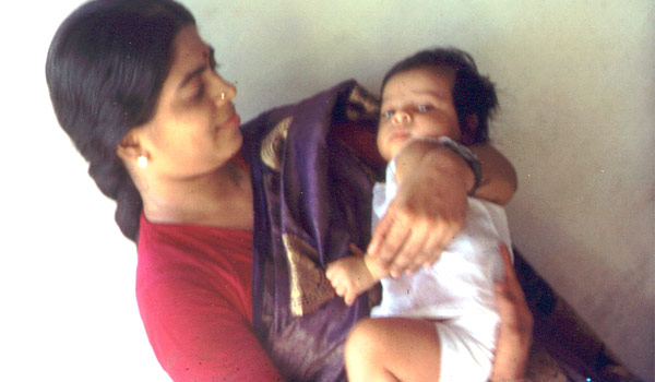 Actor Srikanth baby boy with mother photo