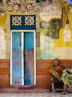 Monje en Angkor