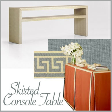Here Are Some Other Great Skirted Tables. I Tend To Gravitate Towards The  More Tailored Look With Pleated Corners And Trim, But You Can Also Drape A  Nice ...