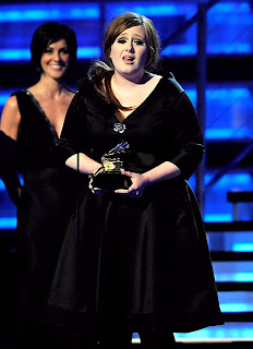 Adele Curvy Woman at the Grammy's