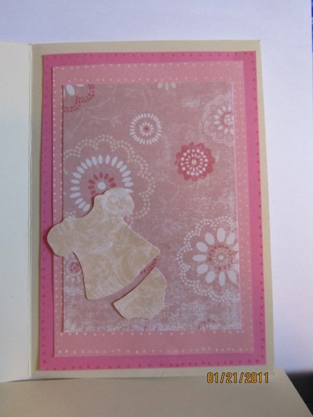 country cabin cards girl baby shower blessing card