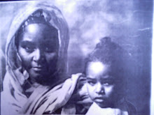 BLACK AND BEAUTIFUL NUBIAN (FROM SUDAN) WOMAN AND CHILD