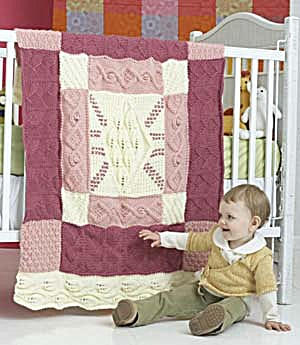 Free baby knitting patterns: Heirloom Baby Blanket From Lion Brand