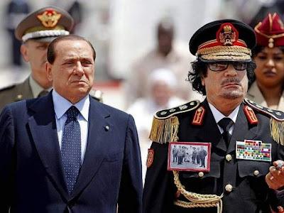 Berlusconi Gheddafi
