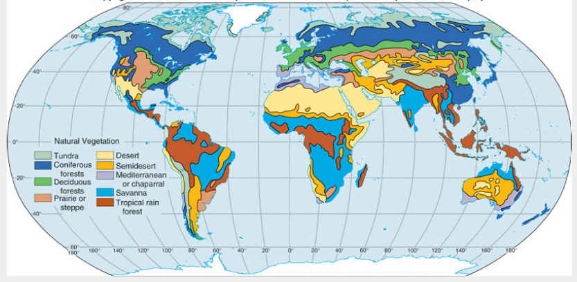 World Climate Zones Map