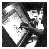 Animation Mentor, Jason Ryan, using a Cintq - working rough.