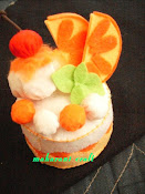 Felt Cake - Orange