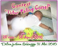 Contest Tidur Paling Comel