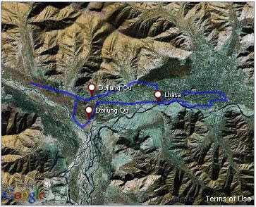 Click to see photos of my second ride in Lhasa.