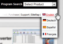 NCH Software Localization for Deutsch, Español and Français