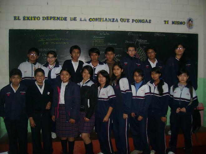 V OLIMPIADA PERUANA DE BIOLOGIA  O.P.B. 2010    SELECCION OLIMPICOS S. O.