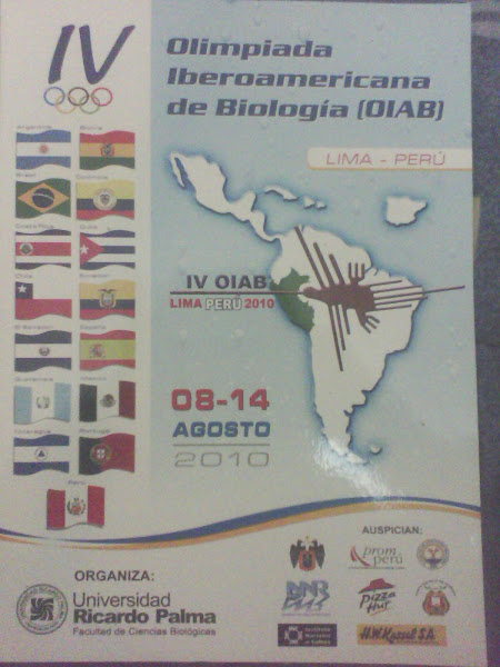 IV OLIMPIADA IBEROAMERICANA DE BIOLOGIA OIAB 2010