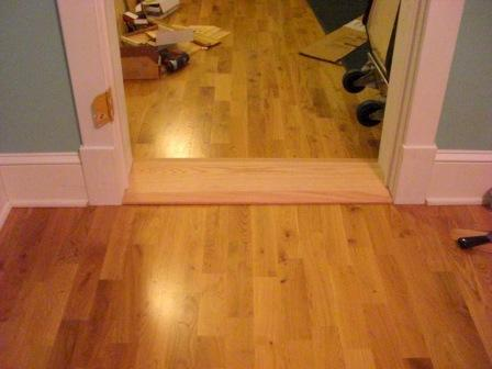 How To Attractively Attach A Wide Interior Threshold