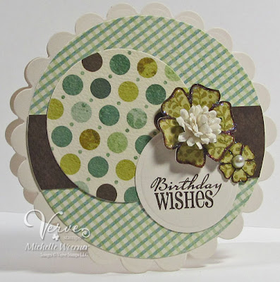 birthday greetings cards. the roses: circle card