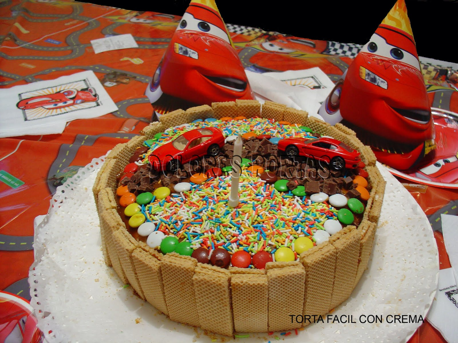 Receta para hacer cake ideas and designs for Tortas decoradas sencillas
