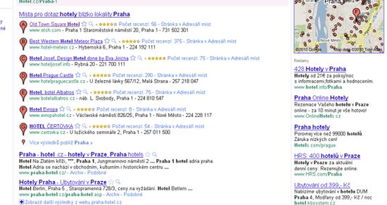 Google Places a Google Hotpot - další možnost zviditelnění Google před nedá
